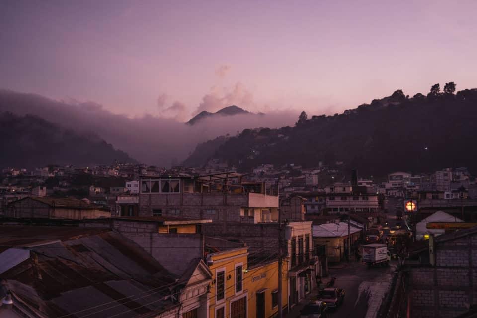 Quetzaltenango-Xela-at-Sunset