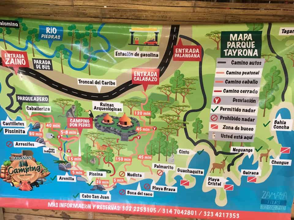 Tayrona-National-Park-Map
