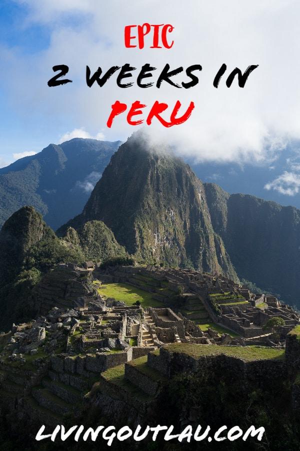Peru-Itinerary Pinterest