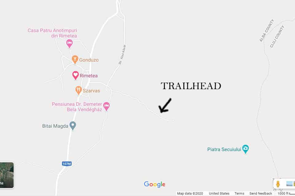 Piatra-Secuiului-Trailhead