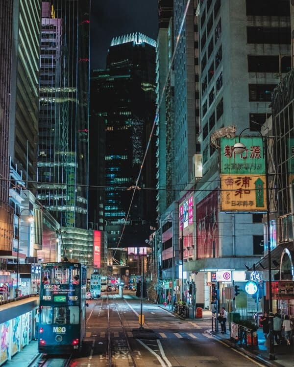 Tram-Ride-Hong-Kong-City-At-Night