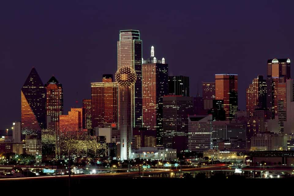 Dallas Texas Warm Places In Winter In USA