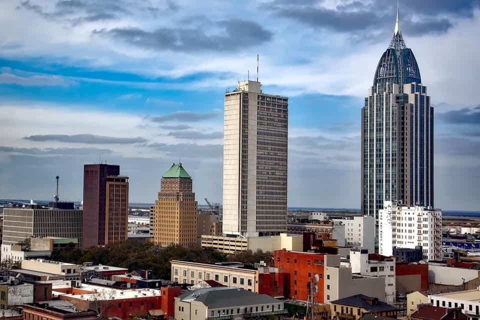 Mobile Alabama Warm Places To Visit In US In December