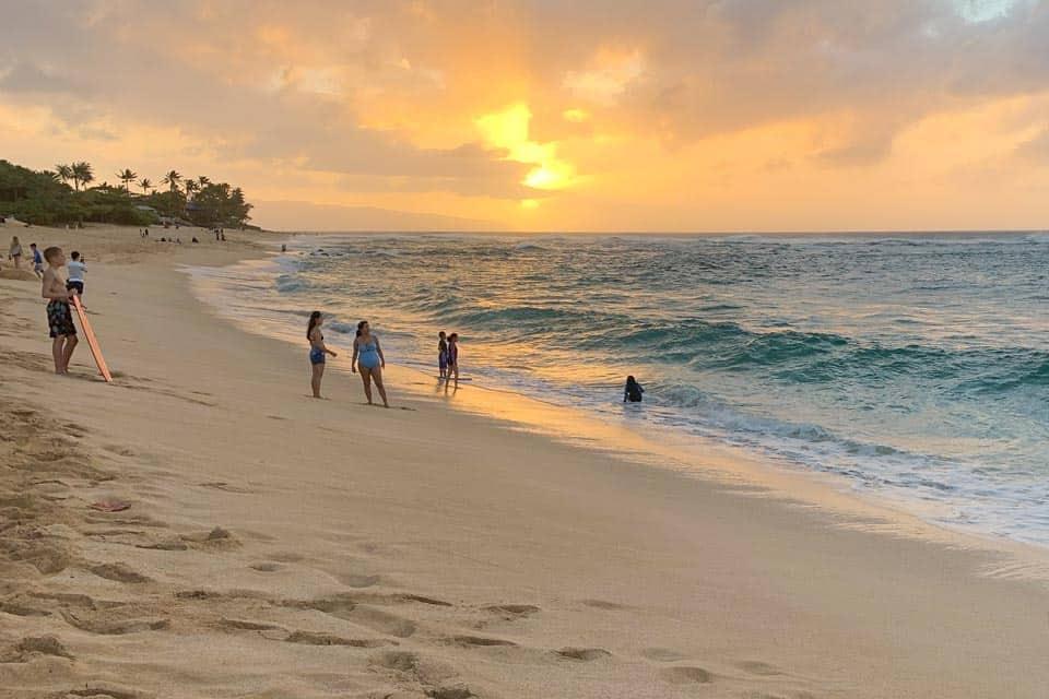 Sunset Beach In North Shore Oahu