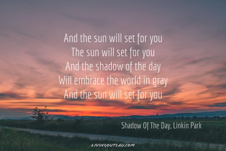 Sunset Quotes With Song Lyrics