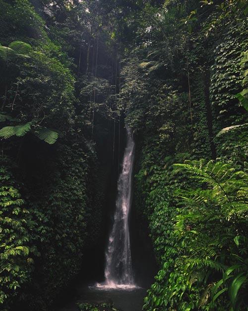 Leke Leke Waterfall In Ubud Bali
