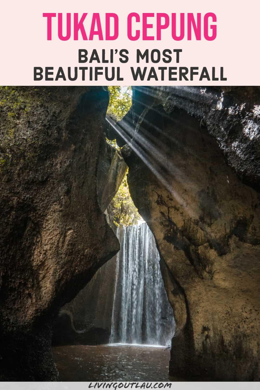 Tukad Cepung Waterfall In Bali Pinterest