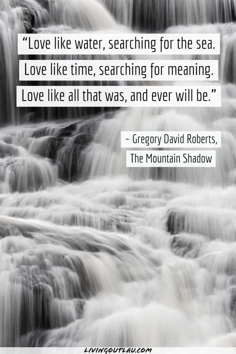 Waterfall Quotes Love
