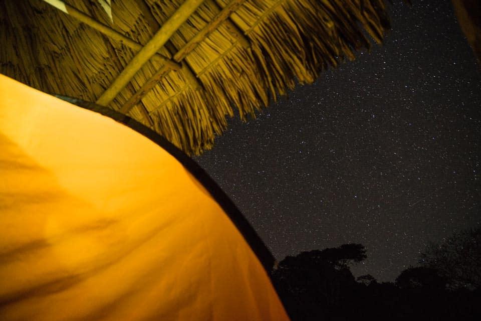 Camping Tikal Ruins