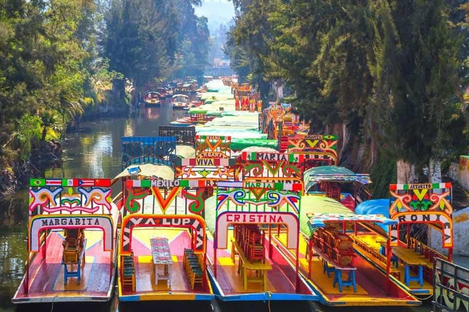 Mexico City Xochimilco Trajineras Boats