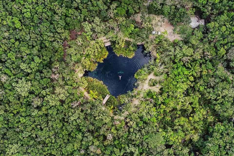 Cenote Cristal Tulum Swimming