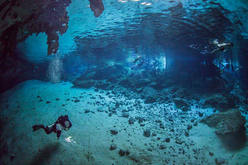 Tulum Cave Cenote Dos Ojos For Diving