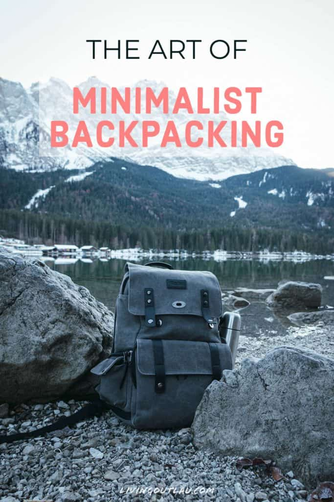 Backpacking Minimalist Pinterest
