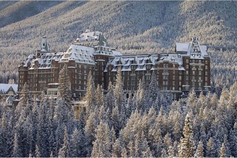 Banff Springs Resort in Winter