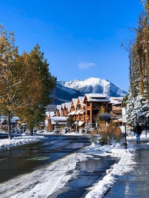Banff Town Centre in Winter