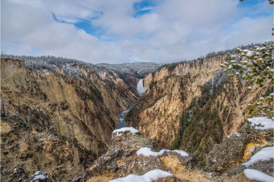 Grand Canyon of Yellowstone in Fall