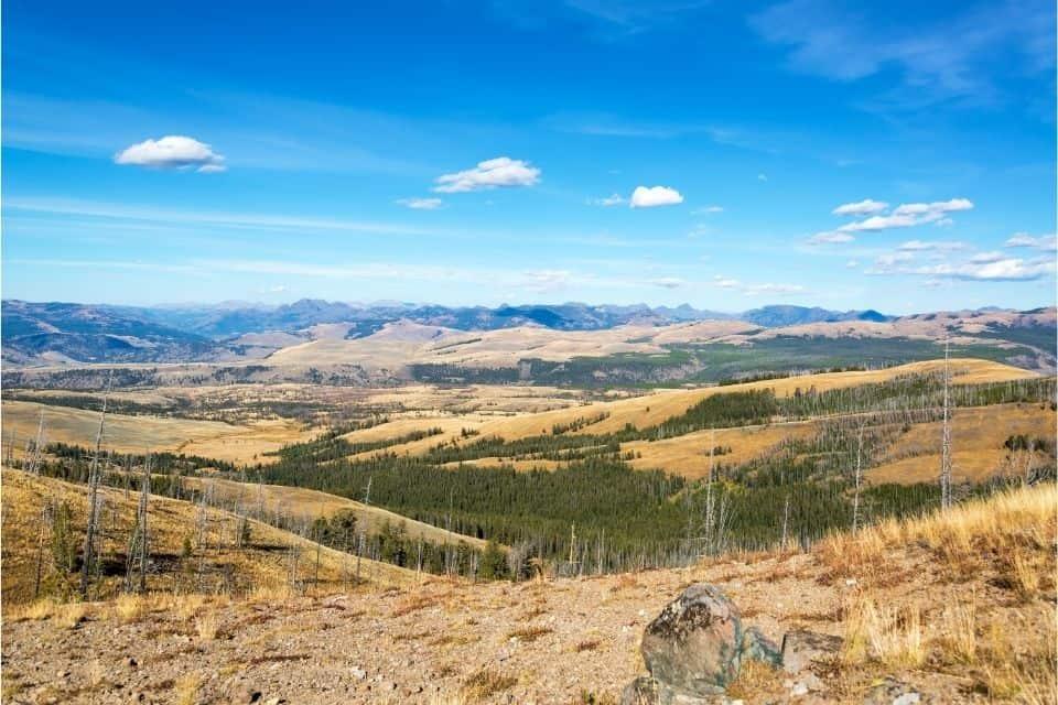 Hiking in Yellowstone in Fall