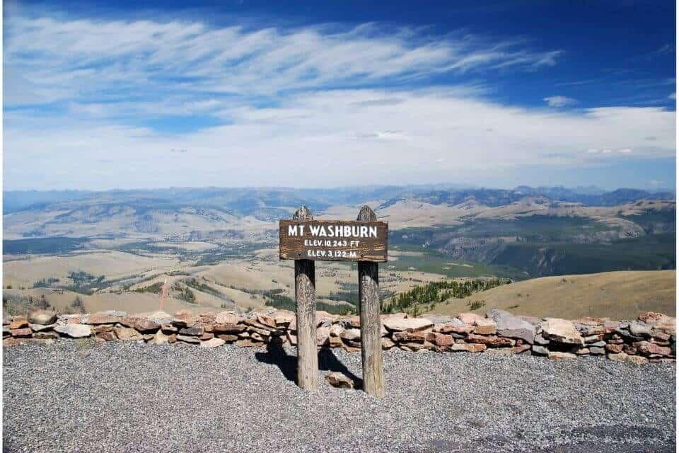 Mount Washburn Yellowstone