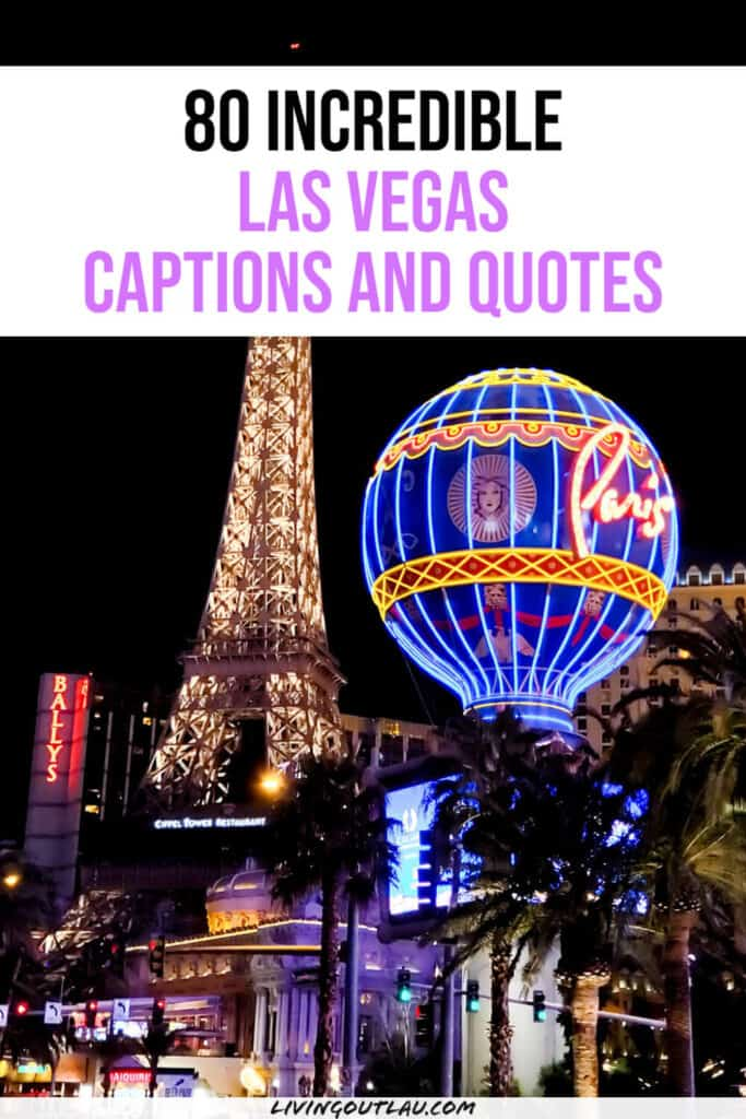 Captions and Quotes For Vegas Pinterest