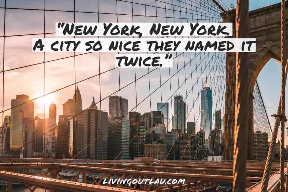 Funny New York City Instagram Captions