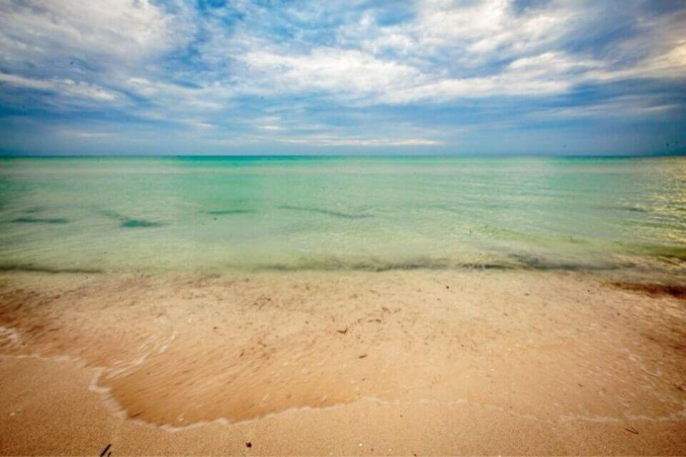 El-cuyo Beach in Yucatan