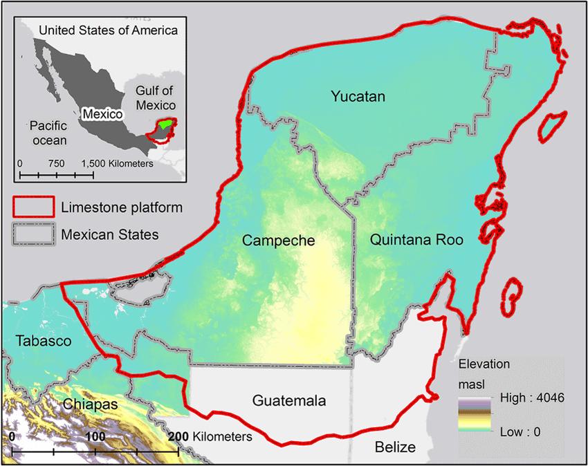 Where is The Yucatan Peninsula Map
