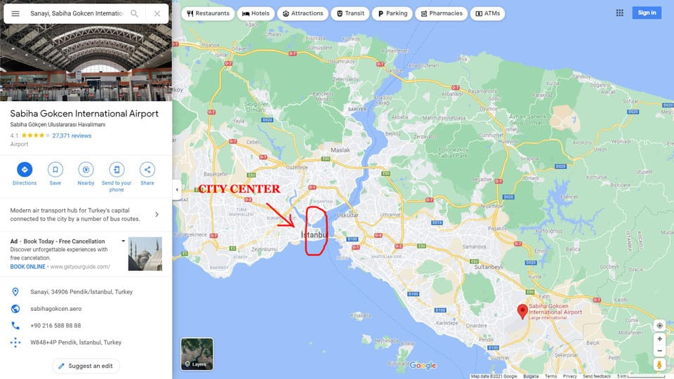 Sabiha-Gokcen-International-Airport-Location