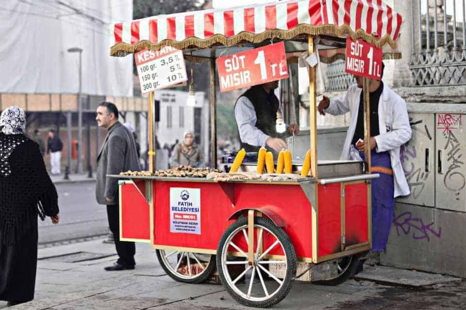 Turkish Istanbul Street Food Carts